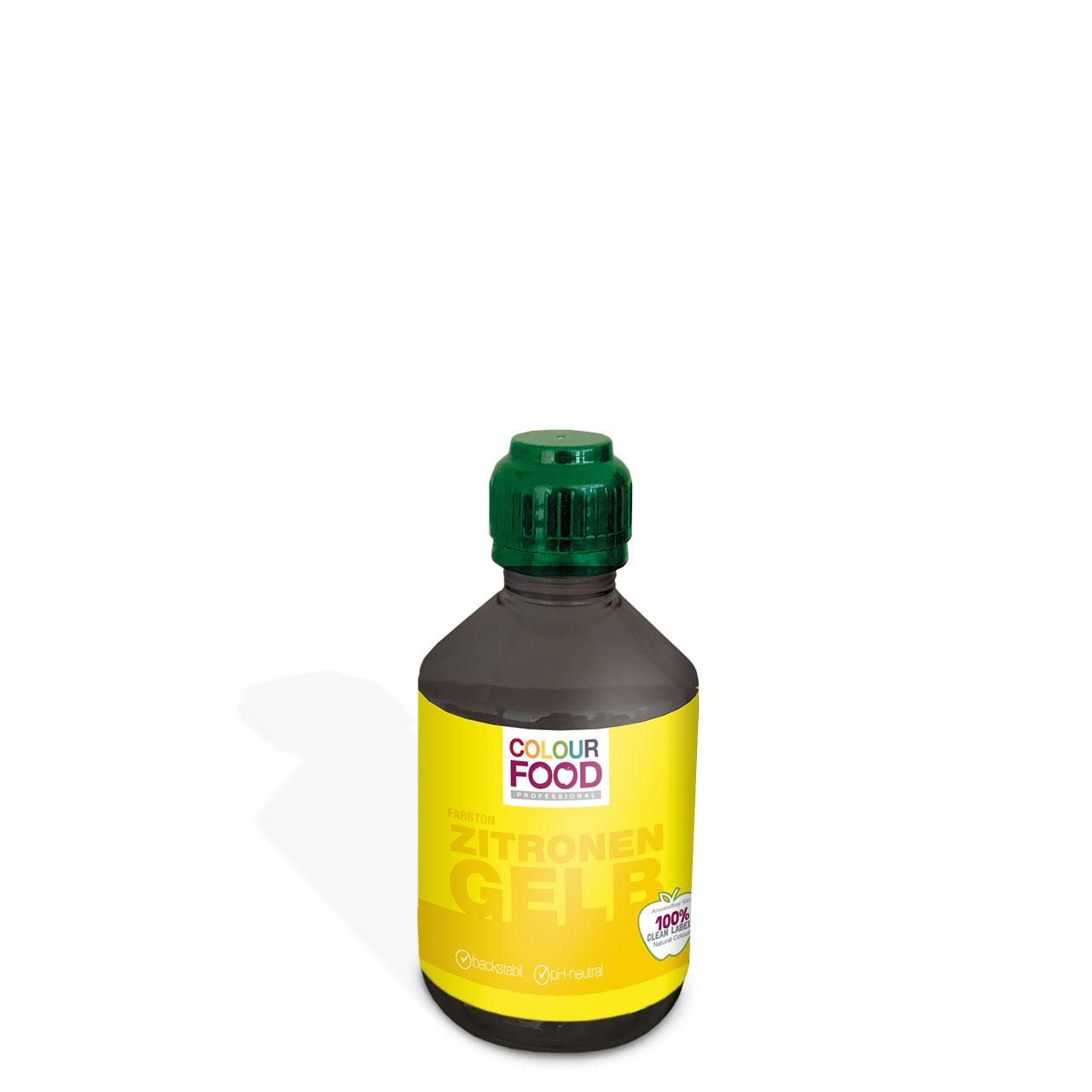 Natürliche Lebensmittelfarbe flüssig AZOfrei Zitronen-Gelb