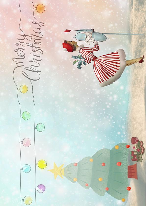 """Rouladendekor """"Weihnachten Christmas"""""""