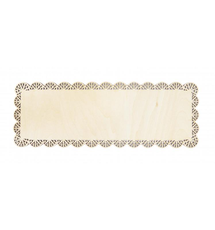 Tortenplatte 36 x 13 cm Holz
