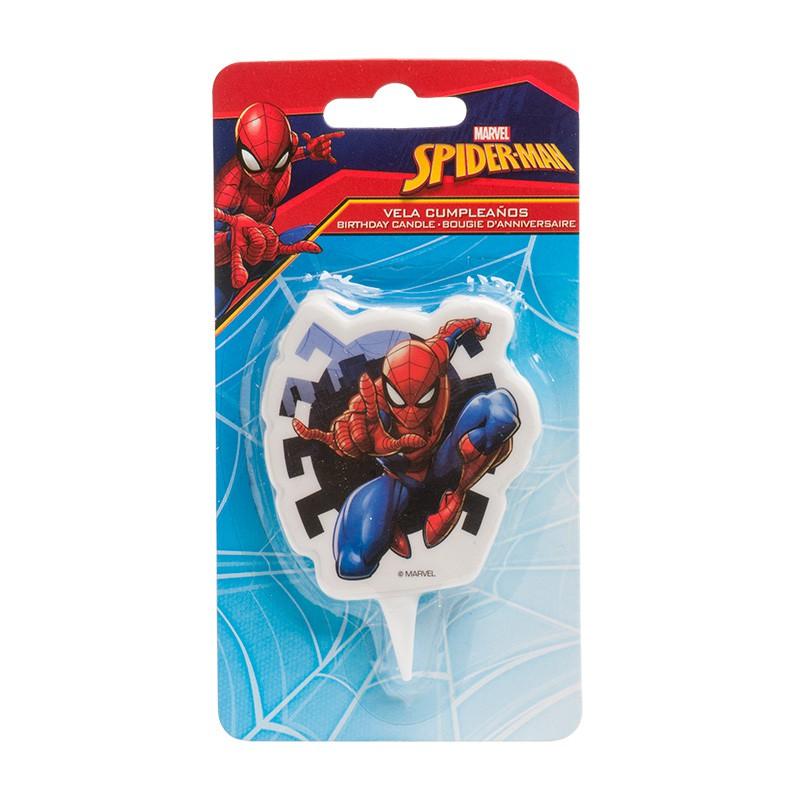 Geburtstagskerze Spiderman