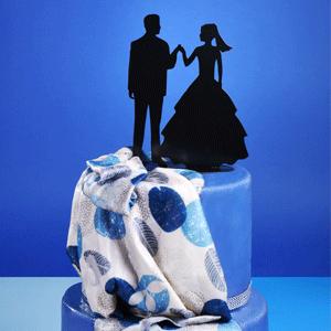 Cake Topper Brautpaar Hand in Hand