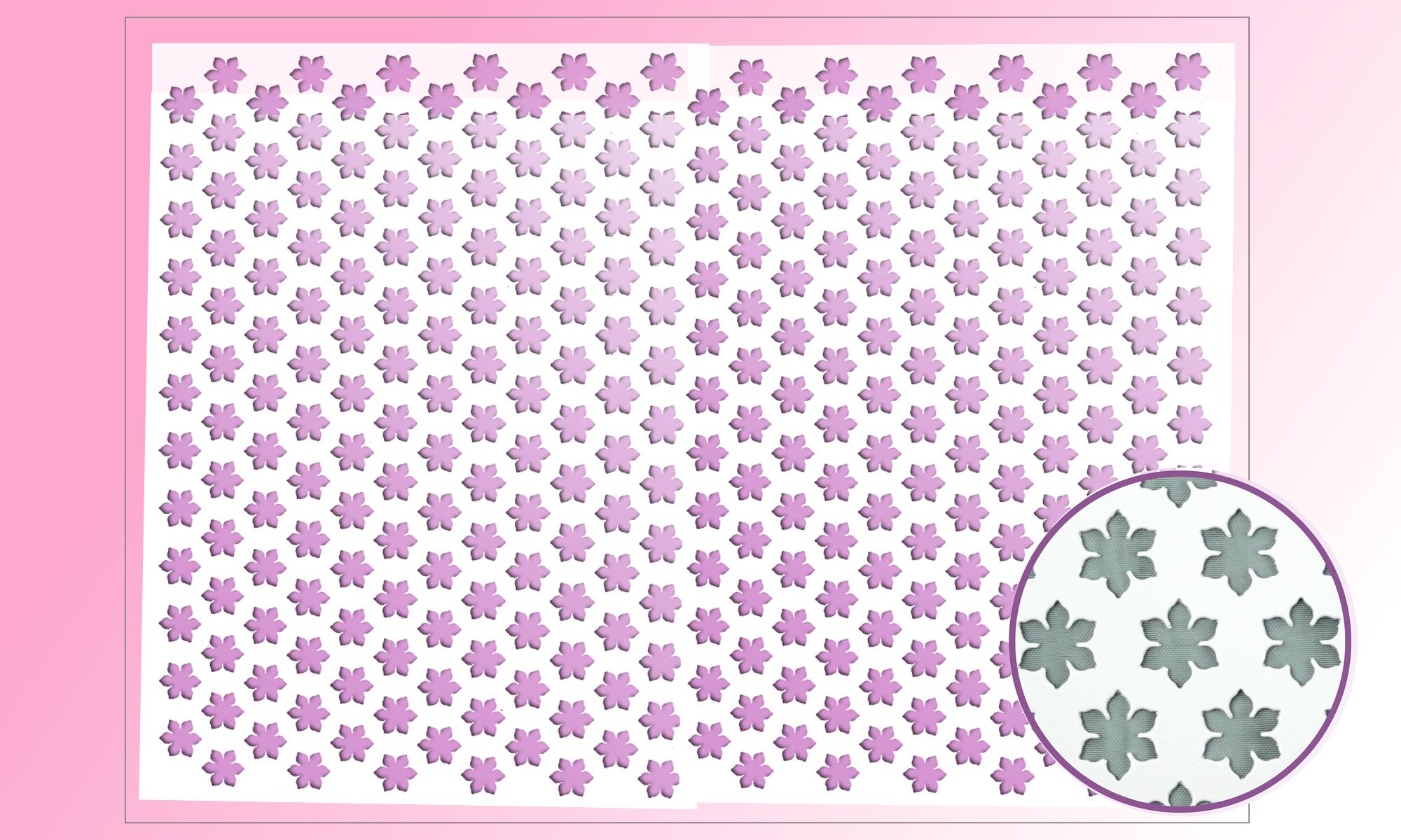 Dekorschablone Blumen für Petit Fours groß | 60 x 40 cm