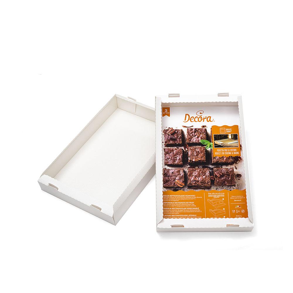 Papier Schachtel weiß für kleine Desserts 38 x 24 cm