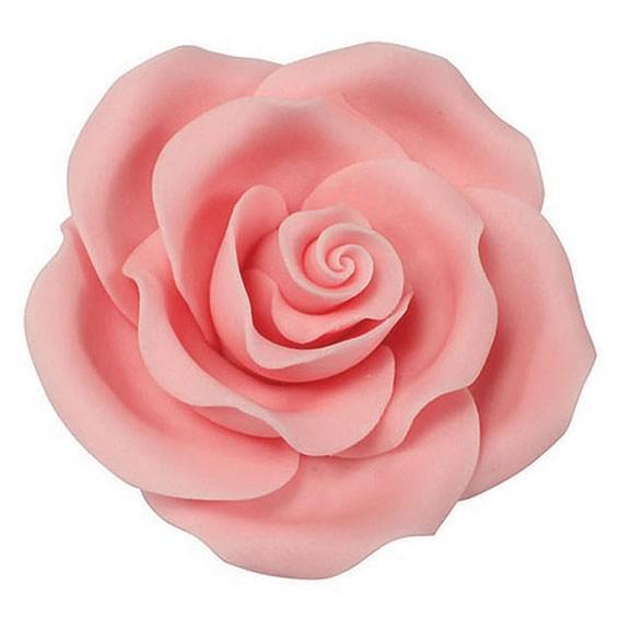 Rose hellrosa handgemacht - 63 mm