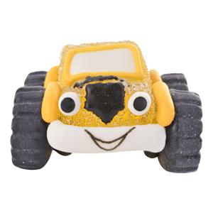 Auto/Geländewagen gelb aus Gelee und Zucker