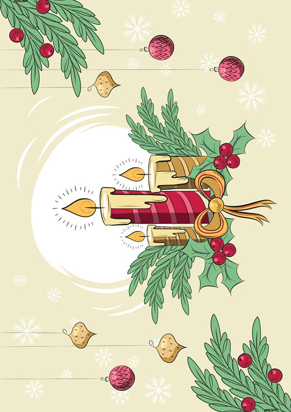 """Rouladendekor """"Weihnachtskerze"""""""