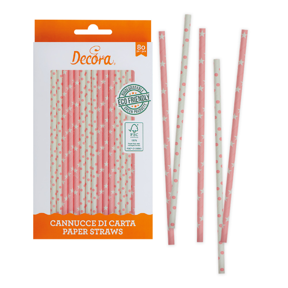 Lollipop / Cake Pop Stäbchen Strohhalme aus Papier