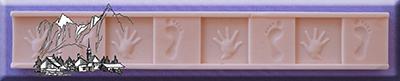 Silikonform Hand und Fuß Bordüre