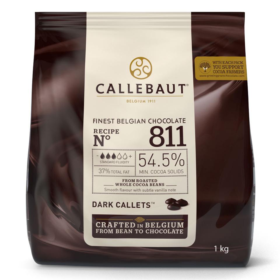 Callebaut Callets 1 kg dunkel 54,5% Kakao