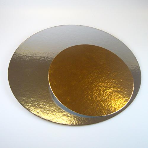 Tortenplatten-Set silber/gold rund