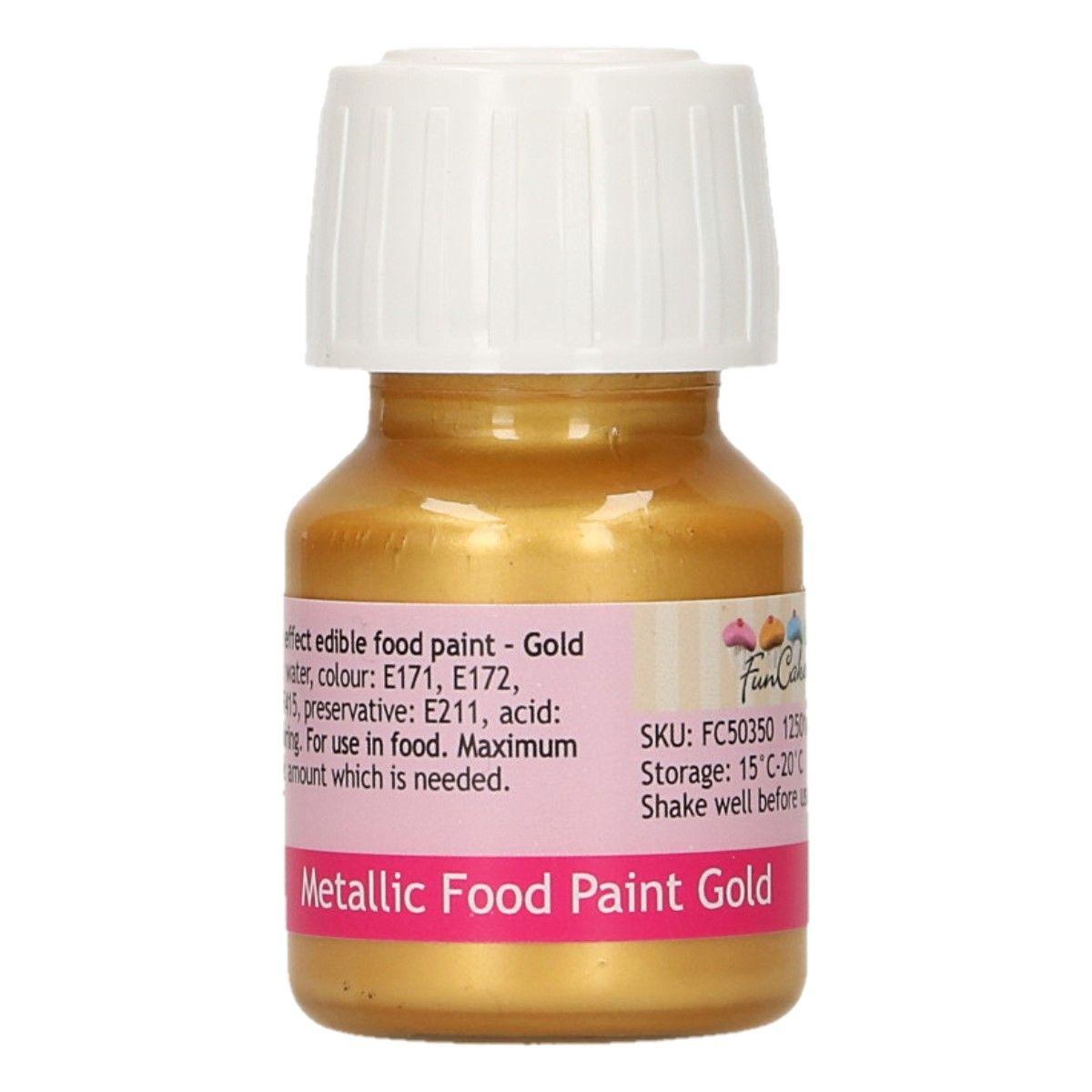 Essbare Farbe Metallic Gold