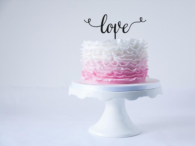 Cake Topper - Love