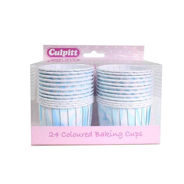 Cupcake Förmchen blau marmoriert