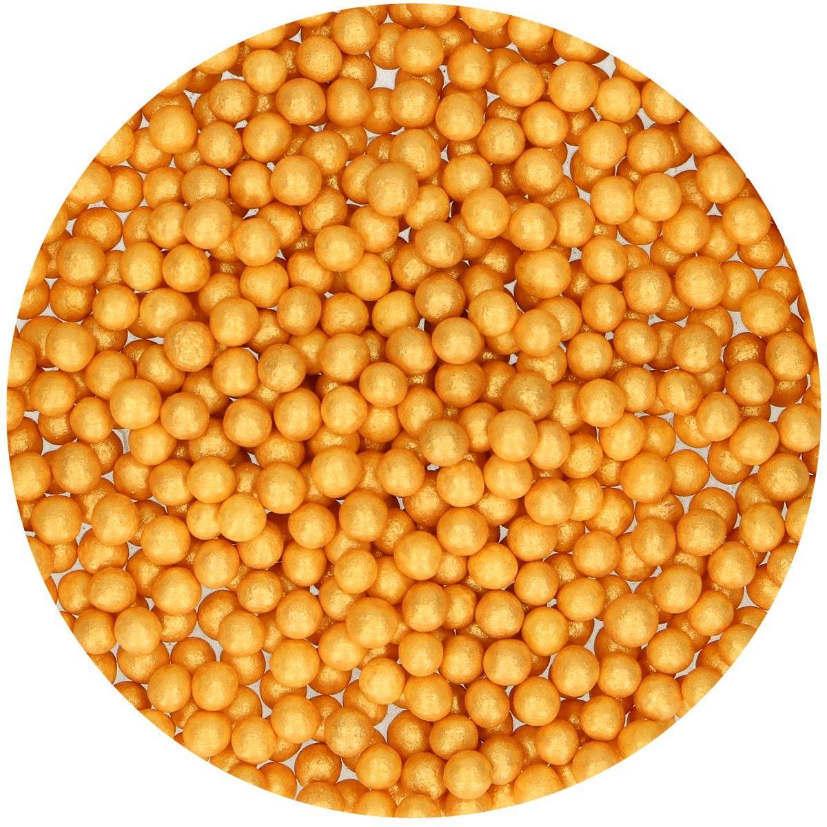 Zuckerperlen Soft Metallic Gold 60 g
