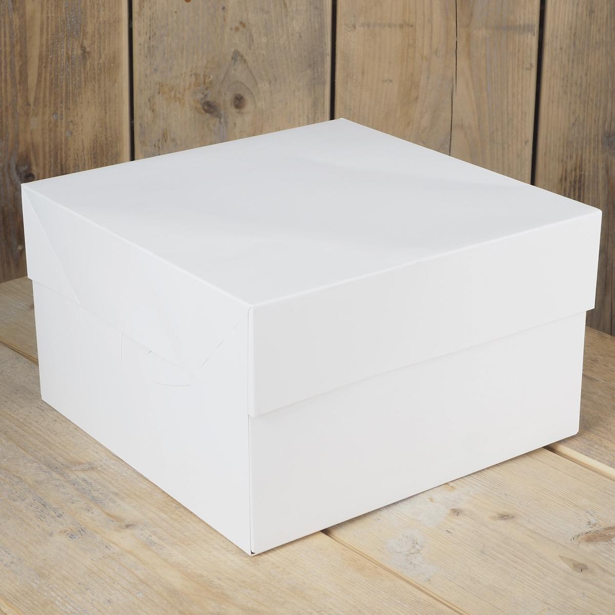 FunCakes Tortenschachtel weiß 30x30x15cm