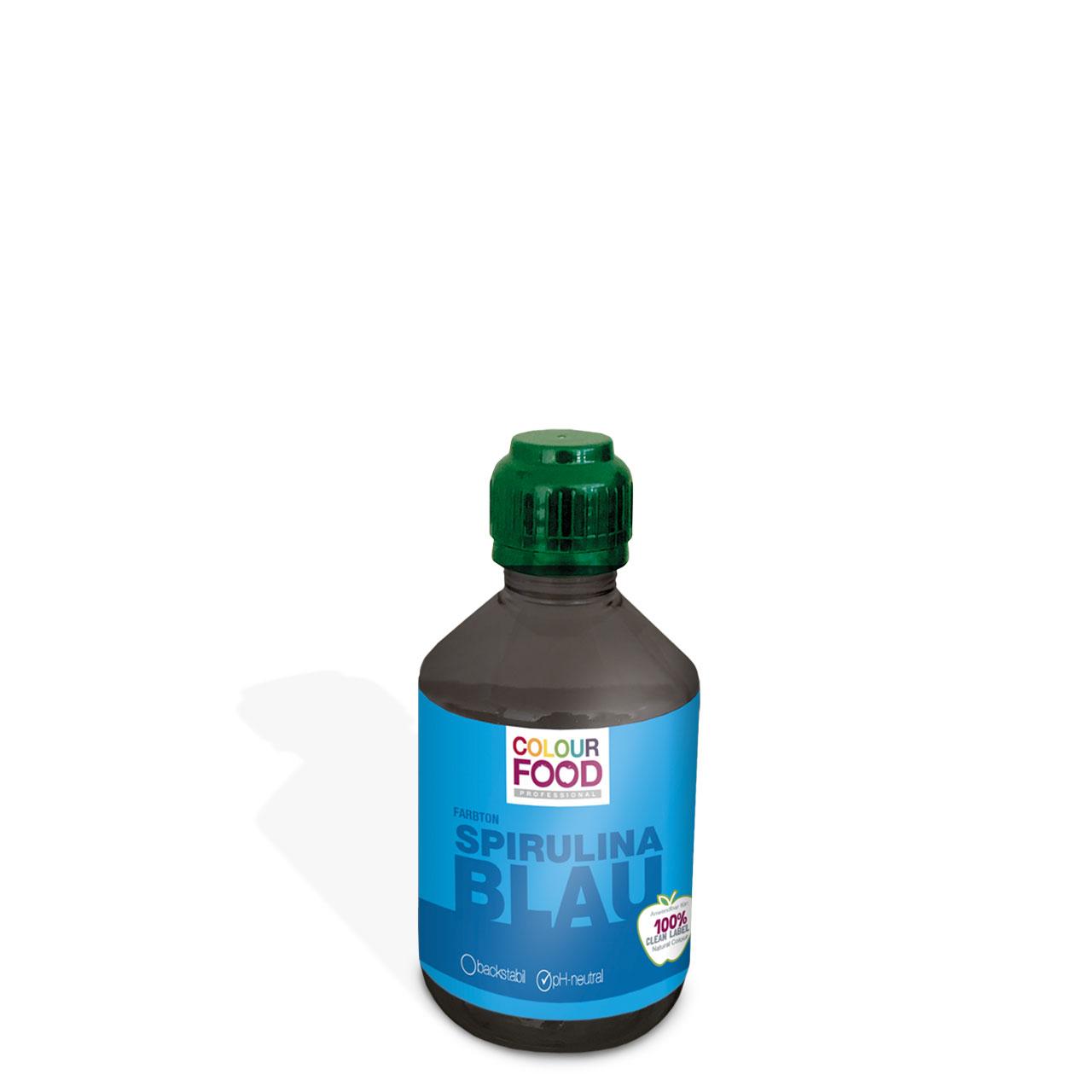 Natürliche Lebensmittelfarbe flüssig AZOfrei  Spirulina-Blau