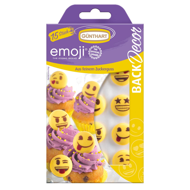 15 Zucker Emoji, gelb