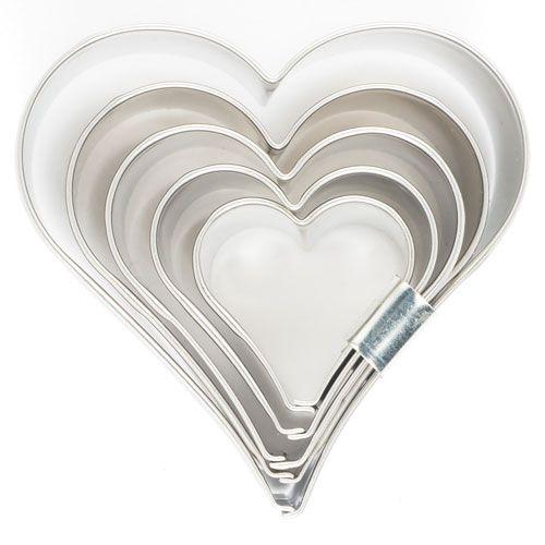 Ausstecher Set Herz Metall 5-teilig