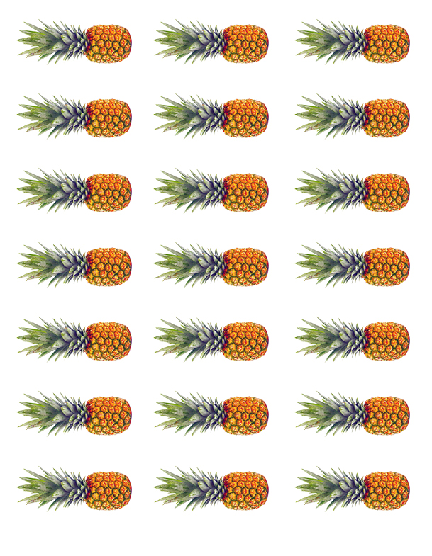 Tortenband Ananas