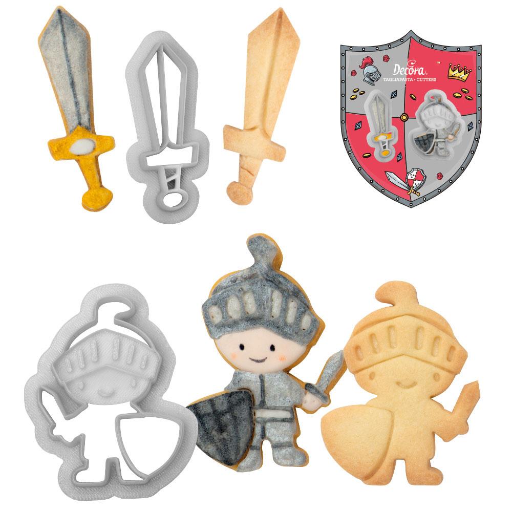 Ausstecher Ritter und Schwert