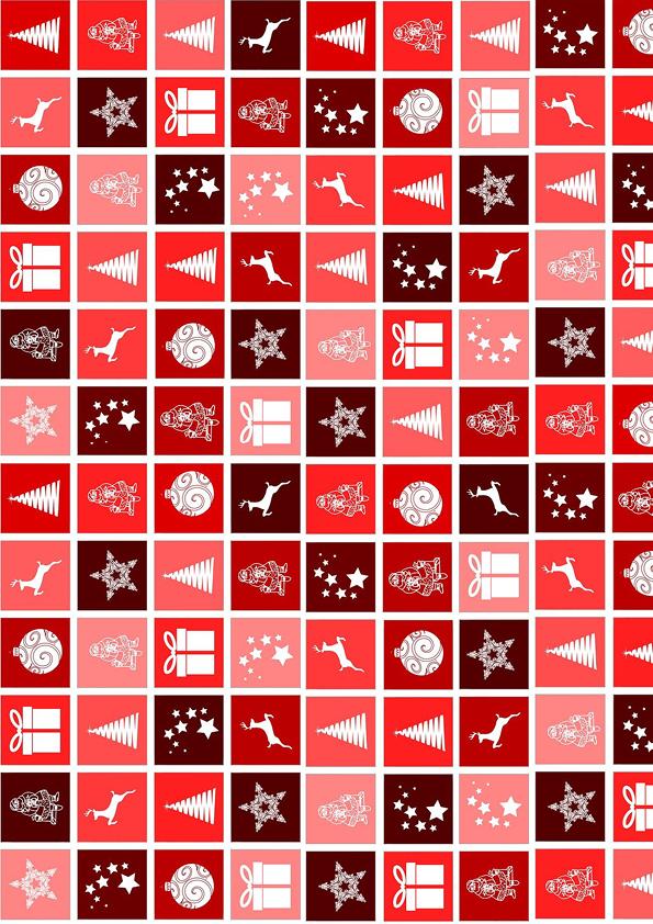 """Rouladendekor """"Weihnachten rot"""""""