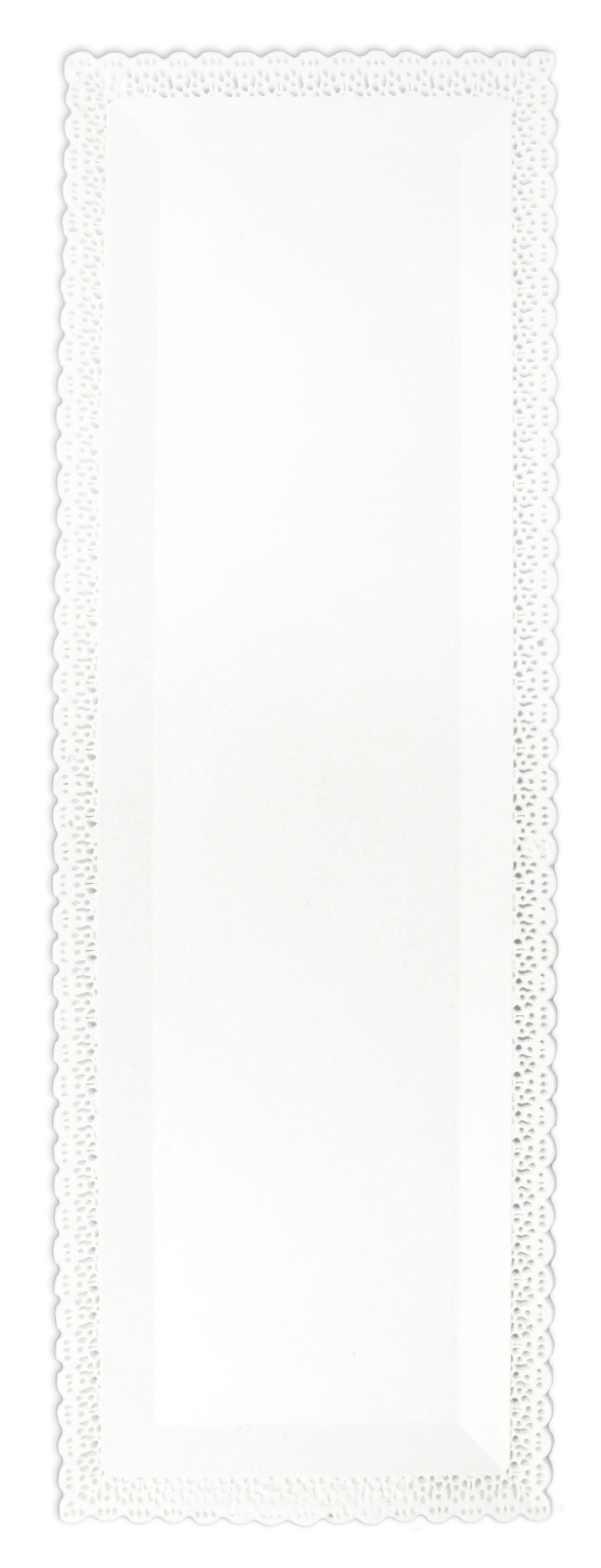 Tortenplatte mit Spitze rechteckig weiß