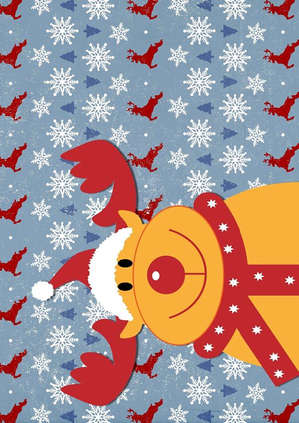 """Rouladendekor """"Weihnachten Rentier"""""""