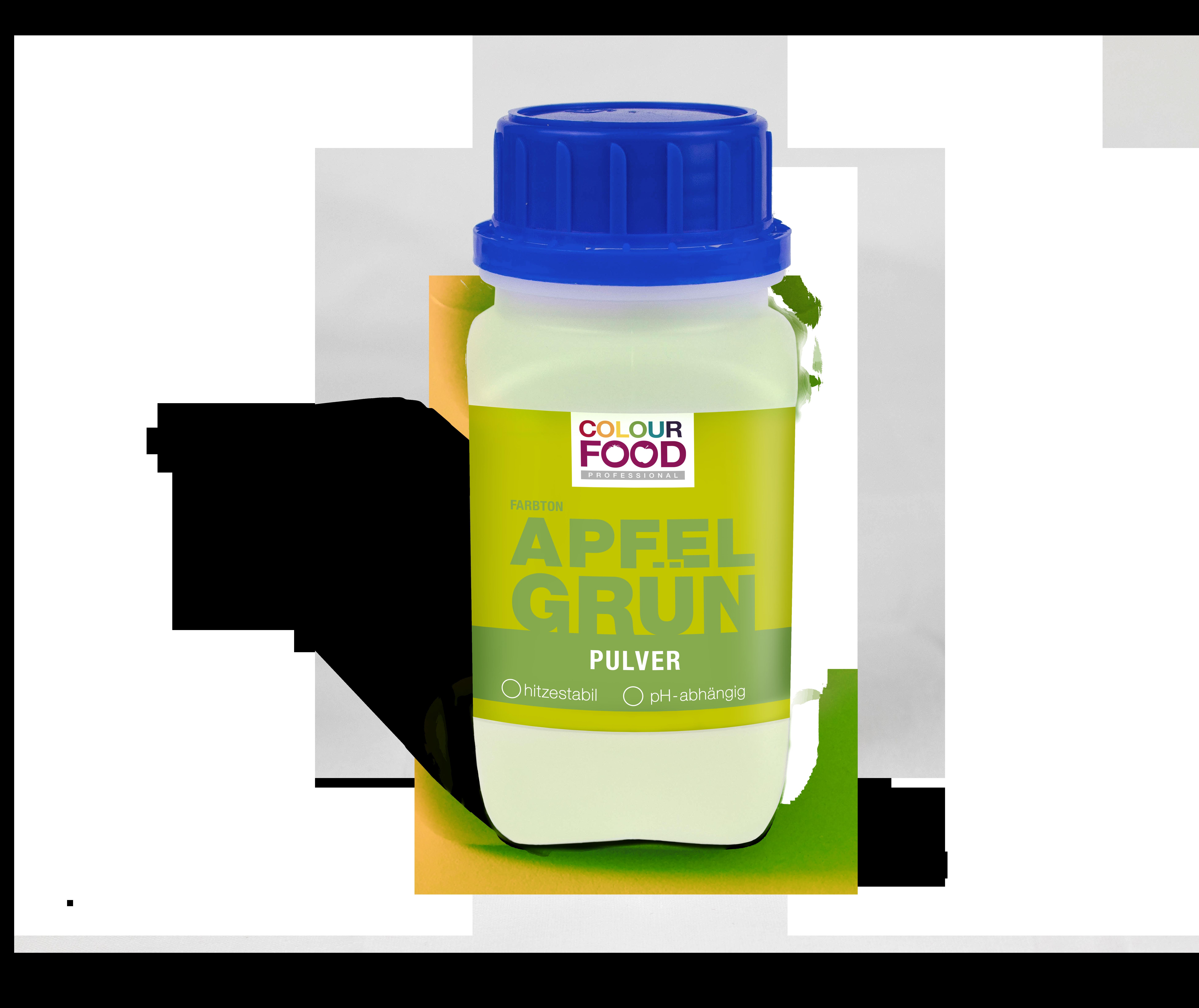 Natürliche Lebensmittelfarbe Pulver AZOfrei Apfel-Grün
