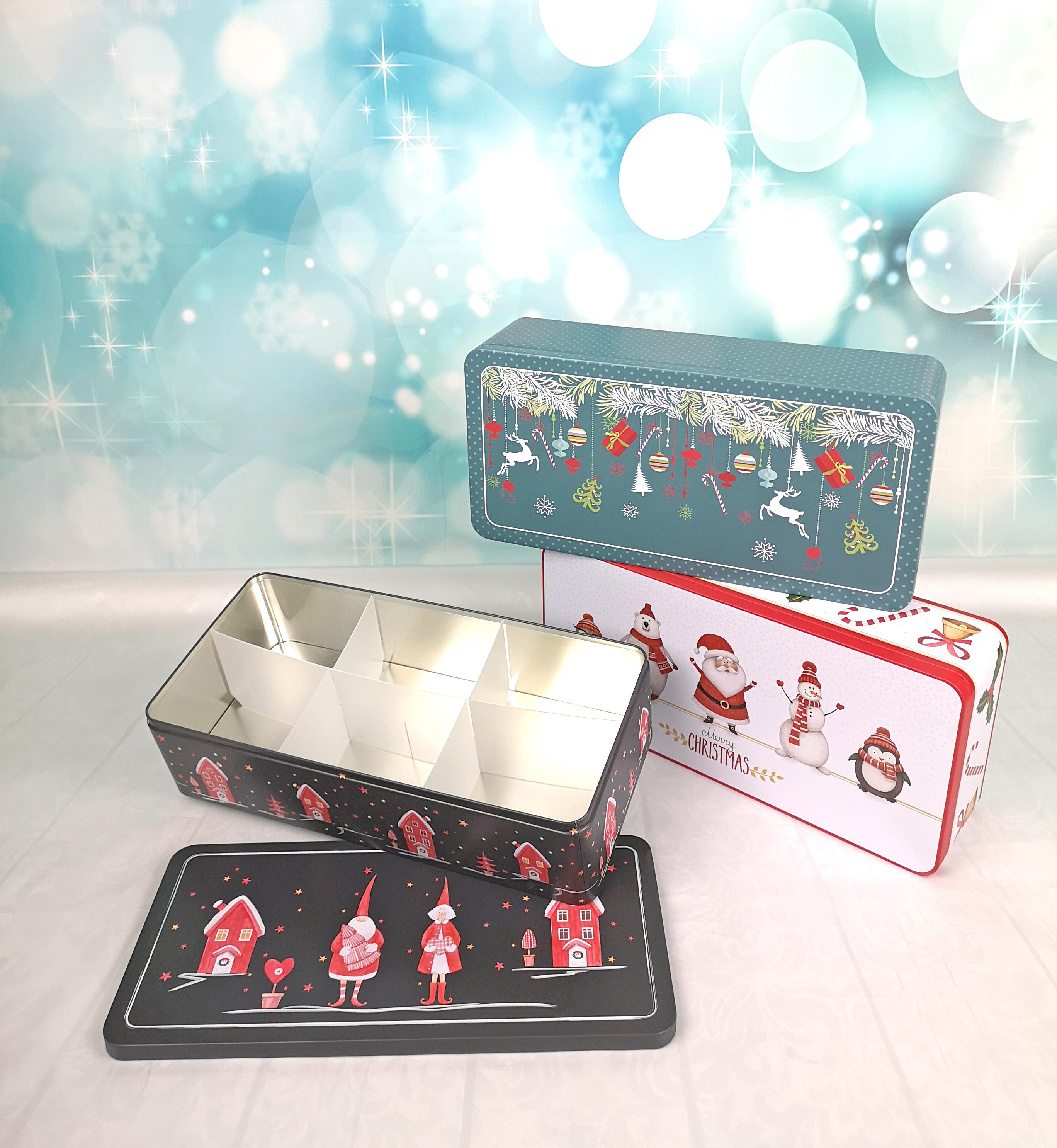Gebäckdose XXL   Christmas Decorations mit Fächereinsatz