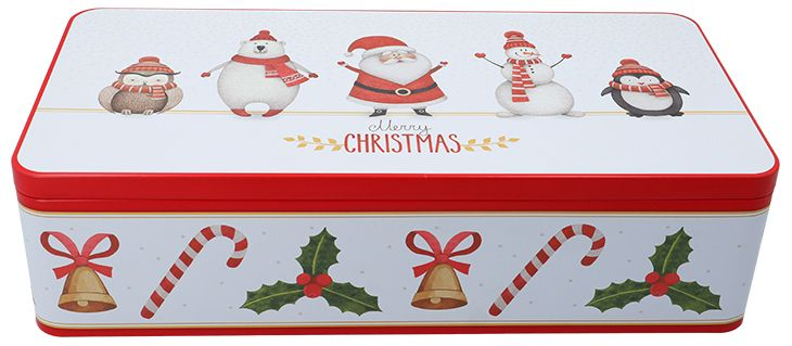Gebäckdose XXL | Merry Christmas mit Fächereinsatz