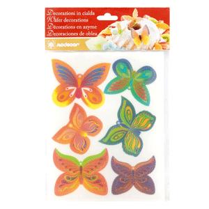 Schmetterlinge Set Oblate   6 Stk.
