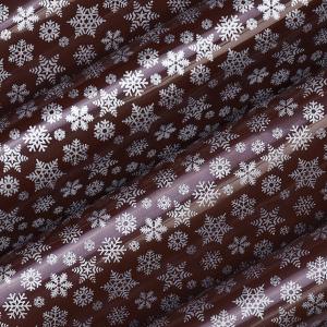 Schokoladen Transfer- Abziehfolie Schneeflocken silber