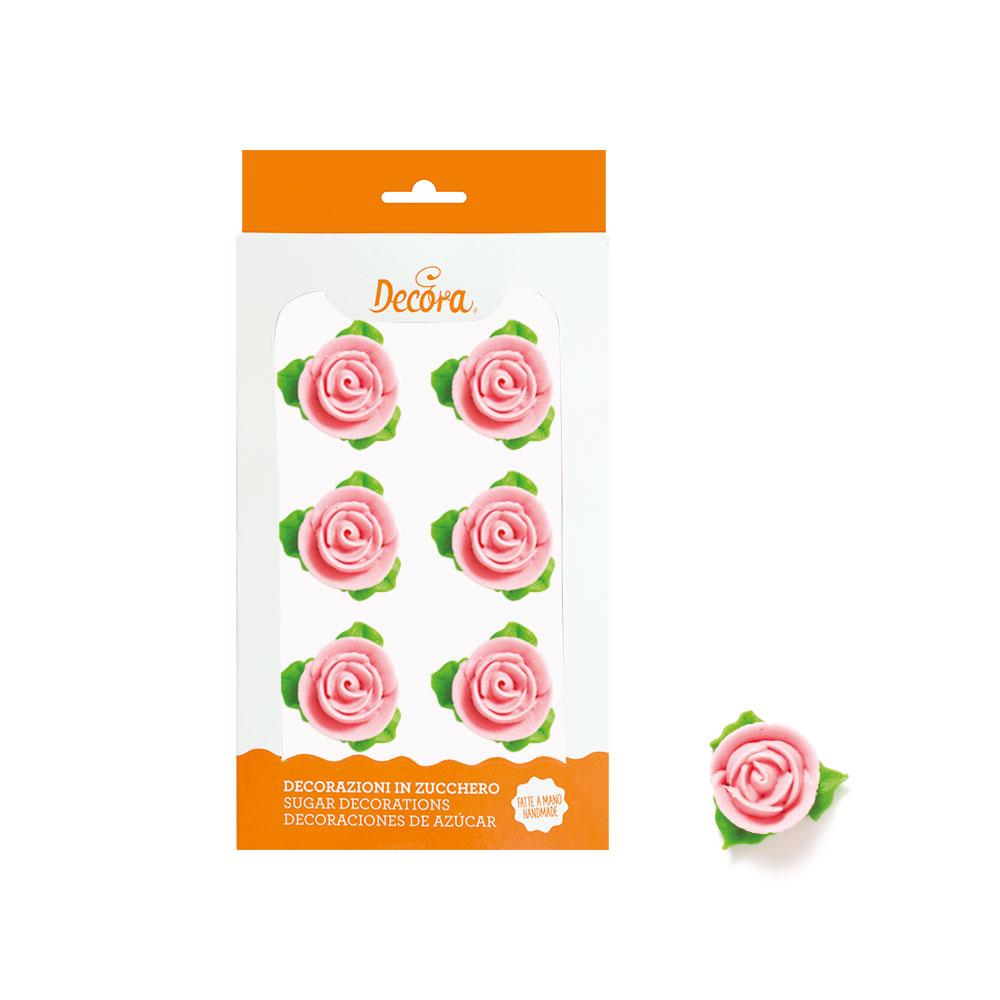 Rosen mit Blätter rosa