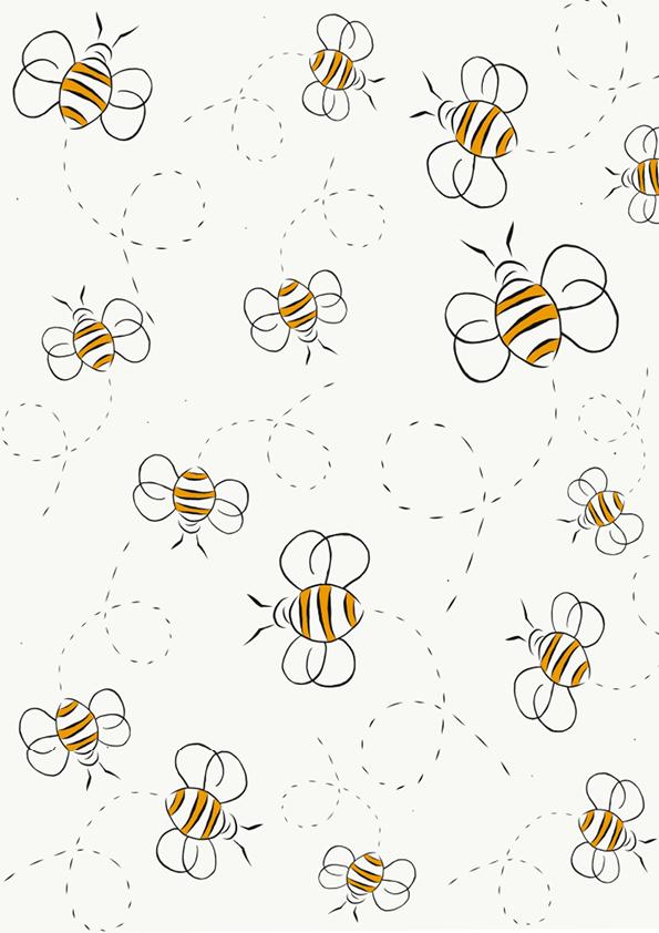 """Rouladendekor """"Bienen"""""""
