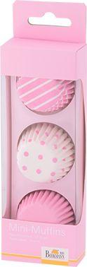 Cupcake Förmchen mini rosa 4,5 cm