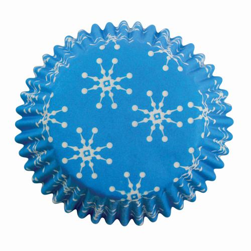 Papierförmchen Schneeflocken