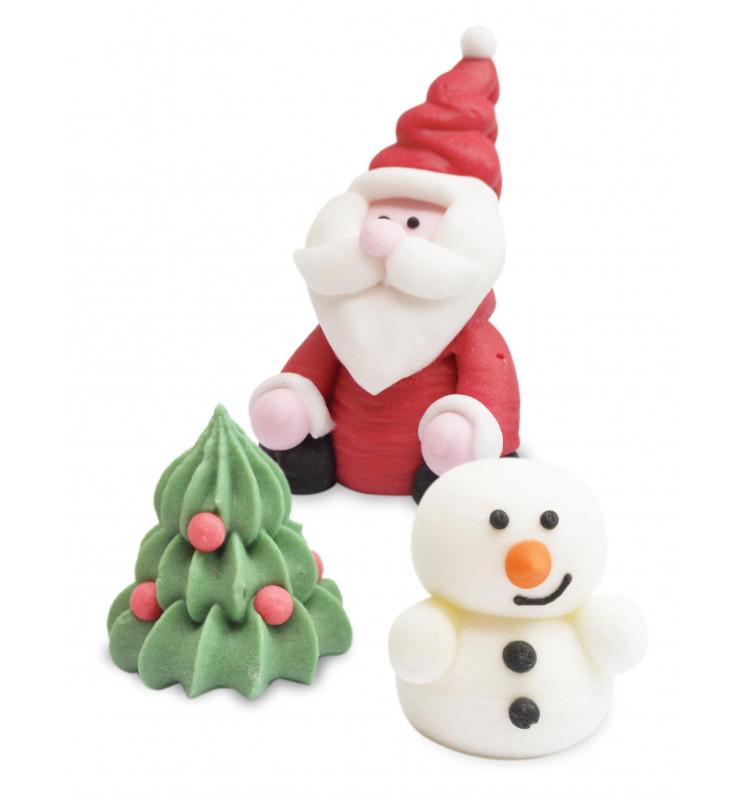 Zuckerdekoration Weihnachten - 3 Teile
