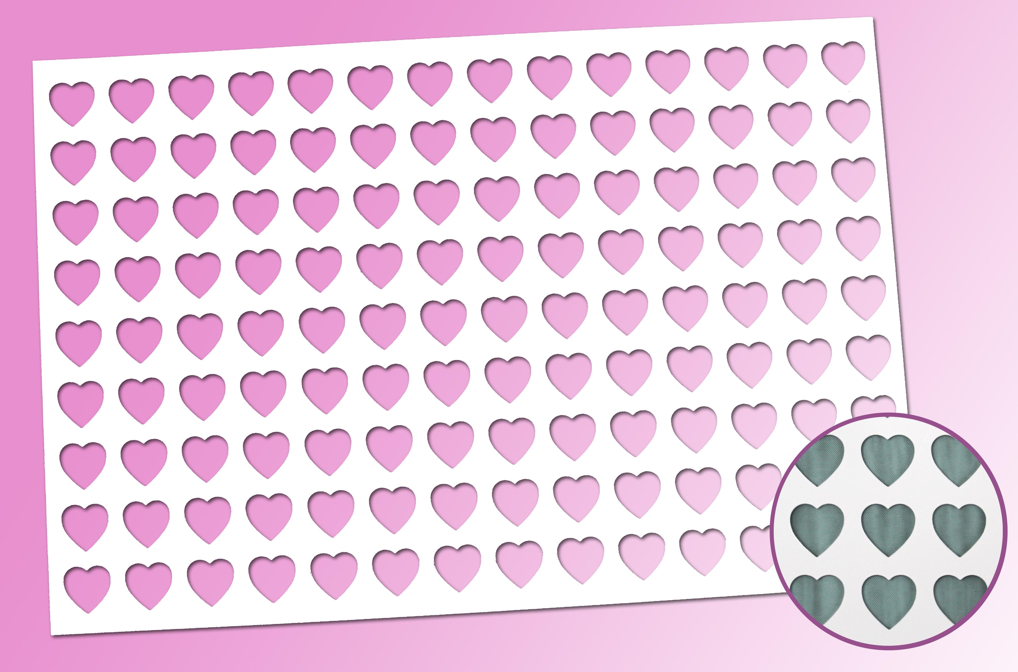 Dekorschablone Herz für Petit Fours