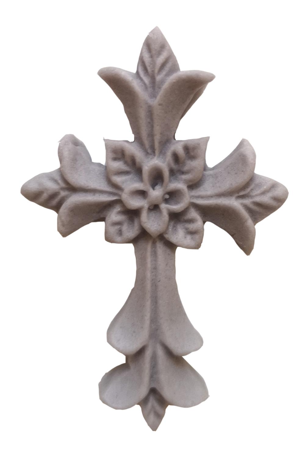 Zuckerdekoration Kreuz silber