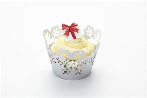 Cupcake Wraps / Umrandungen Schneeflocken