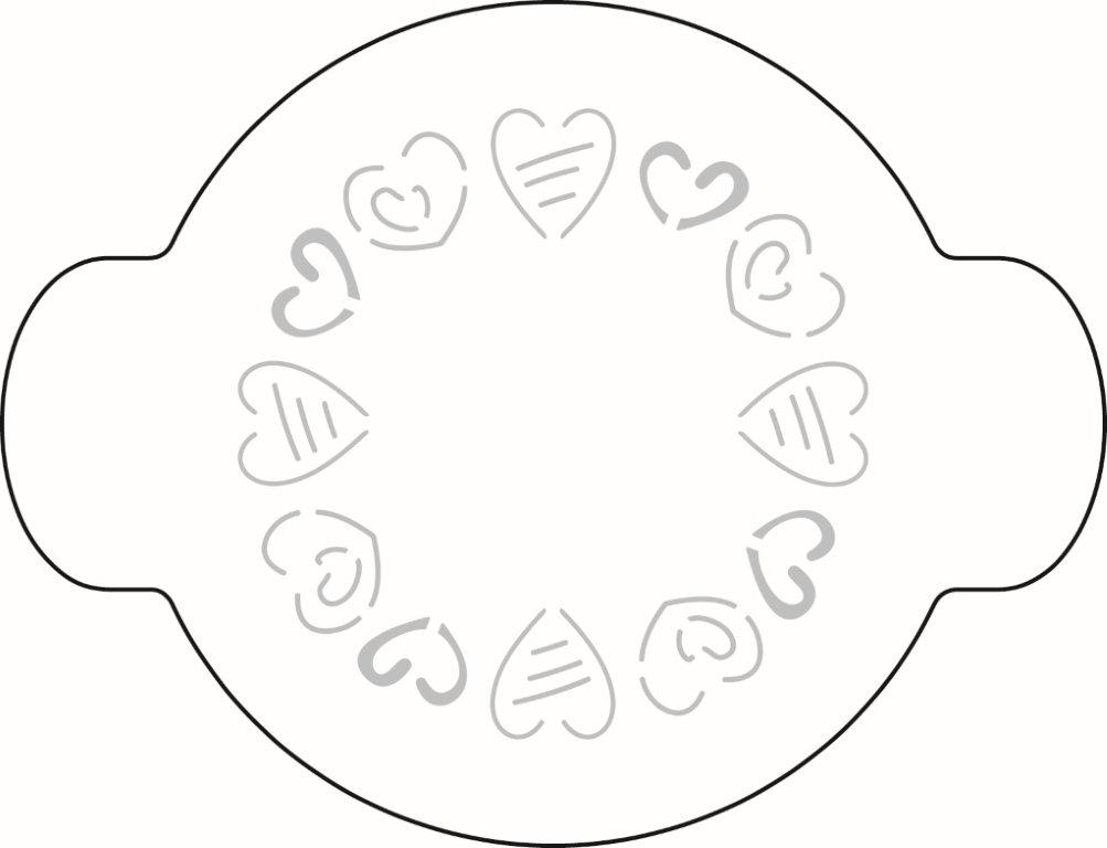 Schablone Herzen
