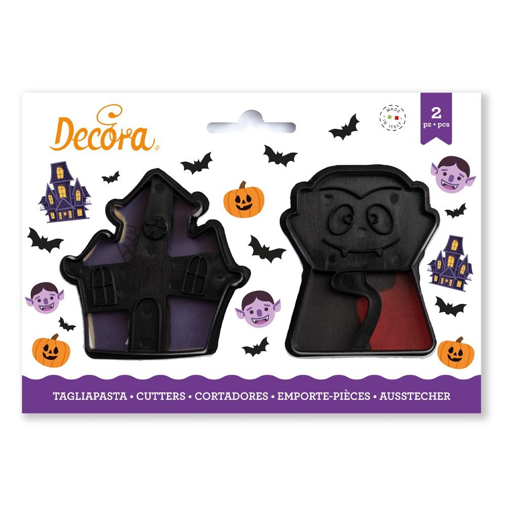 Ausstecher-Set Halloween Vampir und Spuckschloss 2er Set