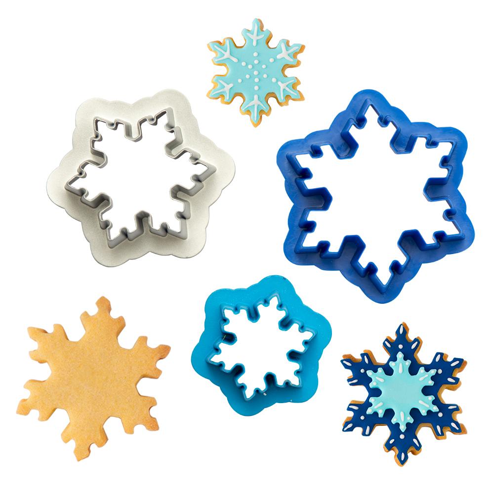 Ausstecher Set Schneeflocken   3 Teile