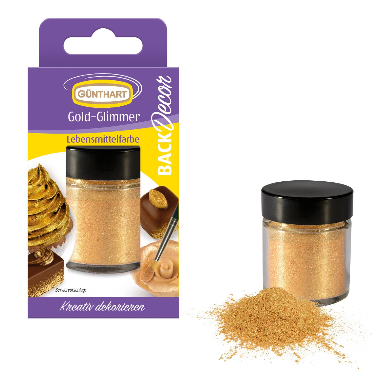 Essbarer Gold Glimmer Puder